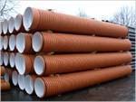 Труба канализационная ПП гофрированная двухслойная InCor SN8 D 160 x 3000 mm