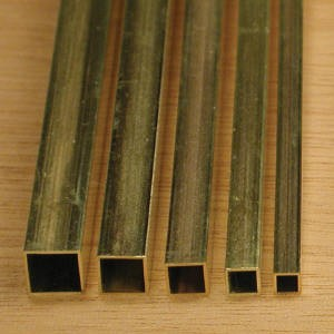 Труба латунная профильная 25х12,5х1 мм Л96