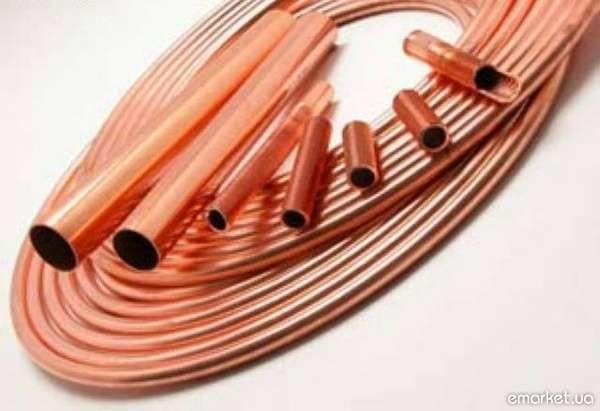 Труба медная М2 мягкая 4х0,5 мм. Трубы медные М1, М2 в бухтах и прутках.