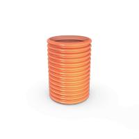 Труба несущая гофрированная для канализационных ПВХ колодцев DN 315 SN2