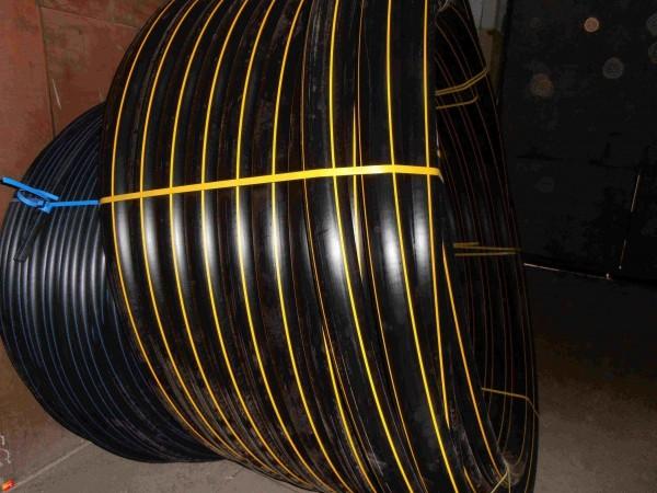 Труба полиэтиленовая (газ, вода), фитинг терморезисторный GF TQ, спигот, ввод цокольный, лента сигнальная, ковера