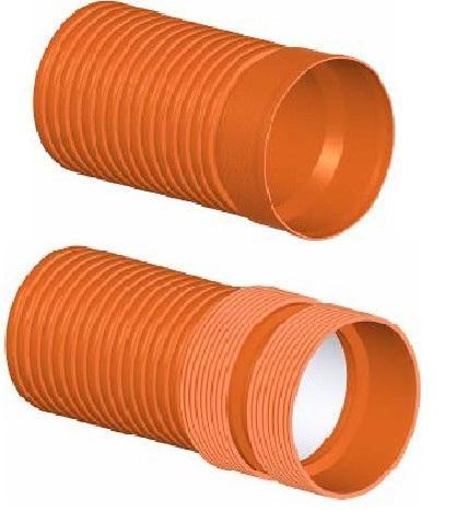 Труба полипропиленовая двухслойная гофрированная для внешней канализации