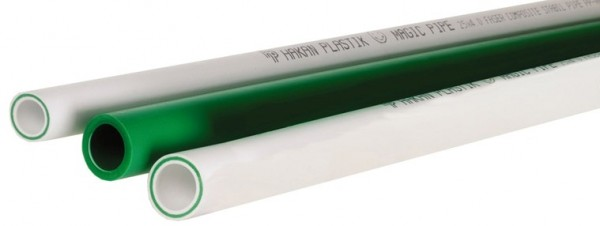 Труба ППР композитная (армированная стекловолокном) для внутр. сетей водоснабжения и отопления PN20 D=20 x 2,8