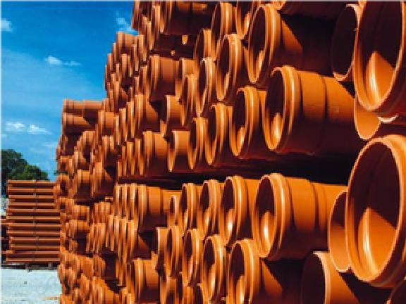 Труба ПВХ канализационная (Средний тип) SN4 SDR41 - 110 х 3,2 мм - 0,5 м