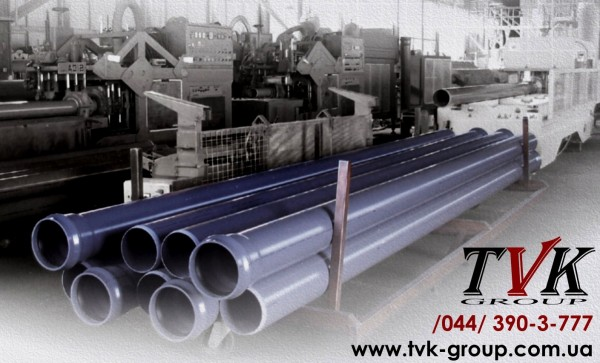Труба ПВХ напорная (внеш. водопровод и канализация) SDR26 PN10 - D=90 х 4,3 мм