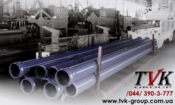 Труба ПВХ напорная (внеш. водопровод и канализация) SDR26 PN10 - D=400 х 15,3 мм