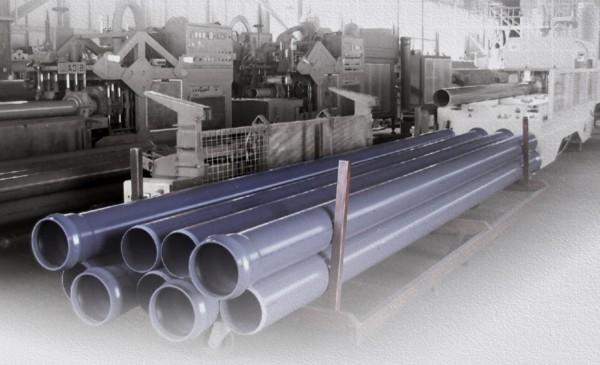Труба ПВХ напорная (внеш. водопровод и канализация) SDR26 PN10 - D=225 х 8,6 мм