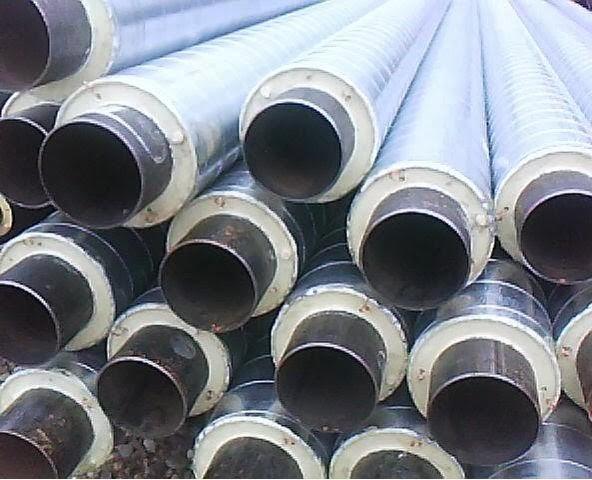 Труба стальная теплоизолированная в ППУ СПИРО изоляции Ф 57/125
