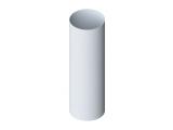 Фото  1 Труба водосточная Альта-Профиль Стандарт 74 мм 3 м белый 2034628