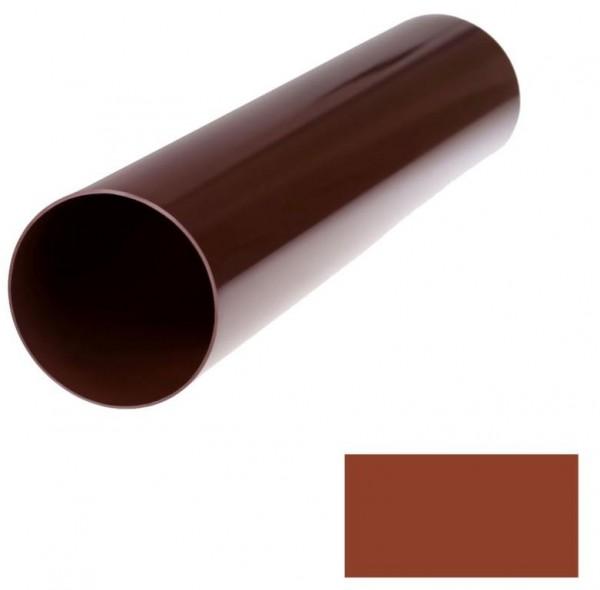 Труба водосточной системы BRYZA ;белый, коричневый;диаметр 90 мм; длина 3 м