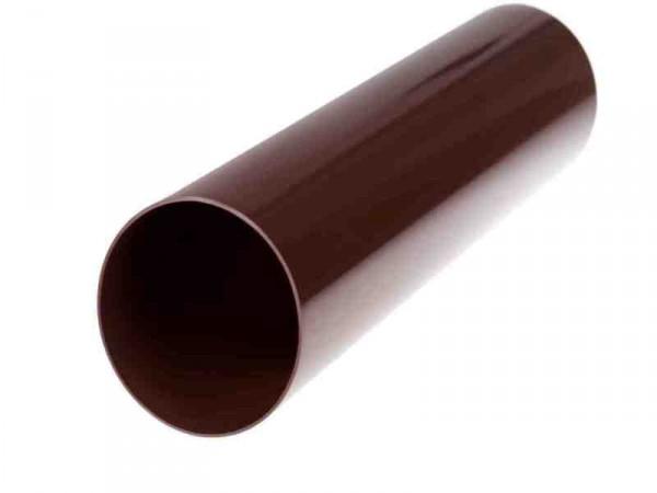 Труба водосточной системы PROFIL 90/75;белый, коричневый; длина 3 м.