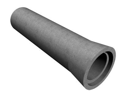 труба ж/б ТС60.25-2, безнапорная труба диаметром 600мм, длиной 2500мм, раструбное соединение.2-й класс нагрузки.