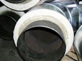 трубы 76/140 теплоизолированные пенополиуретаном в оцинкованой Спиро оболочке для наружной прокладки теплотрас