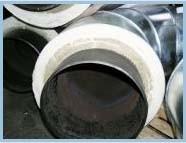 Трубы и элементы трубопроводов стальные теплоизолированные пенополиуретаном для подземной и наземной прокладки.