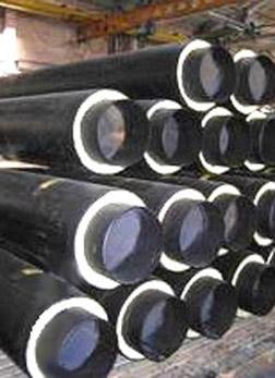 трубы предизолированные, теплоизолированные Трубы диаметром от 32/90 до 530/710 в ПЭ и Спиро оболочке для теплотрасс.