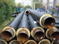 Трубы предварительно теплоизолированные вспененным полиуретаном для сетей горячего водоснабжения и тепловых сетей