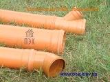Трубы ПВХ (PVC-U) для наружной канализации с раструбом d=110-500 SDR 51; SN 2 (тип легкий)