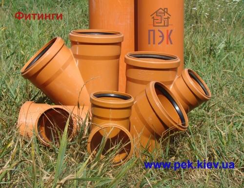 Трубы ПВХ (PVC-U) для наружной канализации с раструбом d=110-1000 SDR 41; SN 4 (тип средний)
