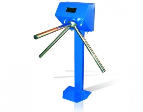 Турникет полуростовой рожковый на одной опоре н/ж или стальной крашенный.