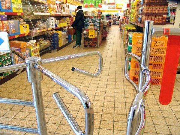 Турникет для супермаркета из нержавеющей стали фото цена