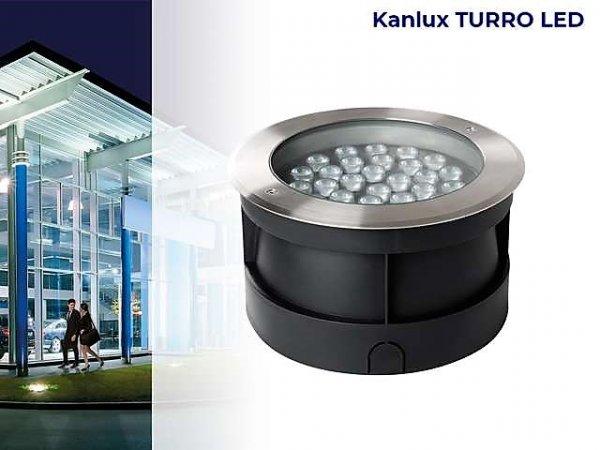 Фото  1 Грунтовой высокомощный светильник Kanlux TURRO LED 30Вт 3000Лм Ø26, IP67 2058561