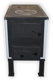 Твердотопливные котлы КОТВ-С-В От 10 до 18 кВт (3222-3690грн. ) В- варочная поверхность (чугунная плита)