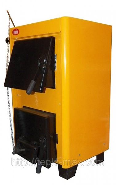 Твердотопливные котлы Огонек модель КОТВ-12, КОТВ-12П с плитой. Продажа, доставка по Украине.