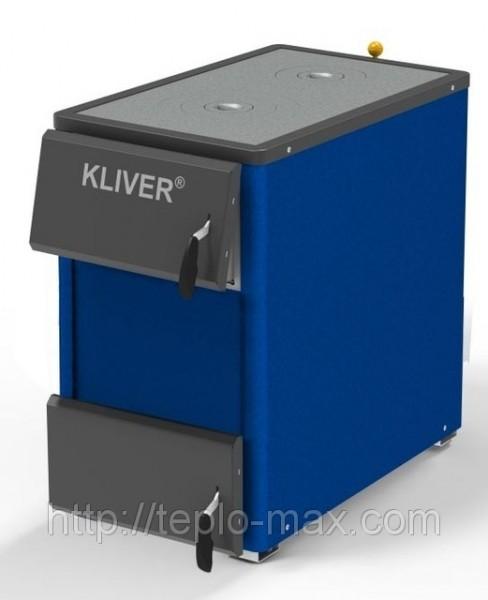 Твердотопливный котел KLIVER (Кливер) 25П с плитой