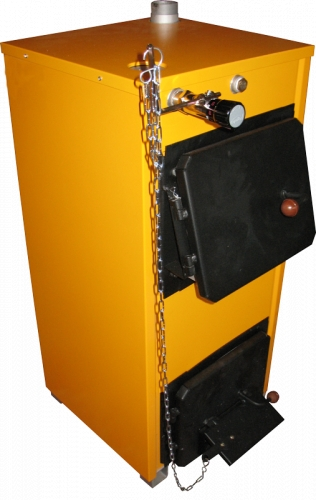 Твердотопливный котел КЛИВЕР - КОТГВ-18БТ* Мощность котла 18 кВт. Отапливаемая площадь до 180 м2.