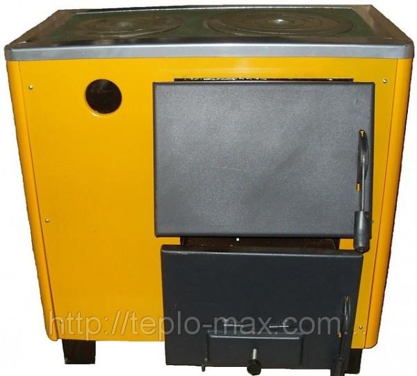 """Твердотопливный котел """"ОГОНЕК"""" КОТВ-12,5 кВт котел-печь на 2 конфорки."""