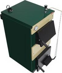 Твердотопливный котел Тивер-КТ-12 рассчитан на отопление помещения площадью до 120м.