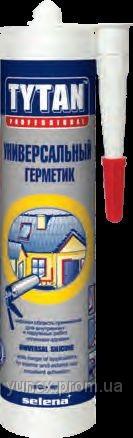 TYTAN Универсальный силиконовый кислотный герметик 310 мл. (белый)