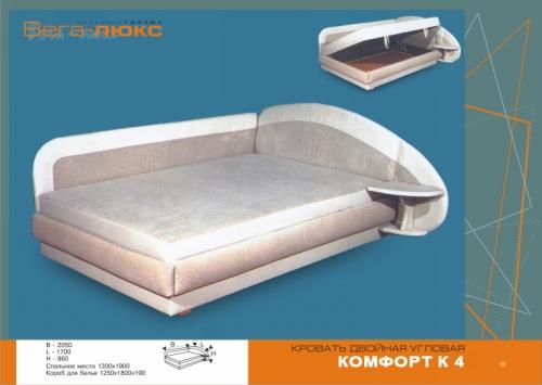Удобная кровать комфорт , оригинальный дизайн и очень удобный механизм подъема матраса