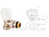 Фото  1 Угловой радиаторный клапан (1/2) Firat 2022951