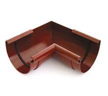 Угол любой (под заказ) водосточной системы BRYZA 125;белый, коричневый;диаметр 125 мм