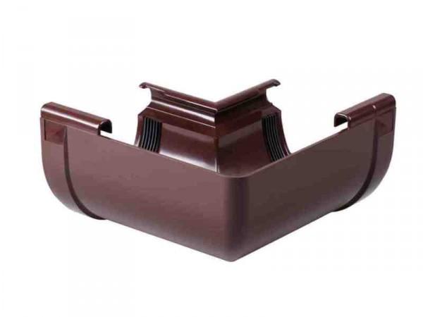 Угол наружный 90° водосточной системы PROFIL 90/75;коричневый, белый;диаметр 90 мм