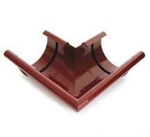 Угол внешний/ внутренний 90° водосточной системы BRYZA 100;белый, коричневый;диаметр 100 мм