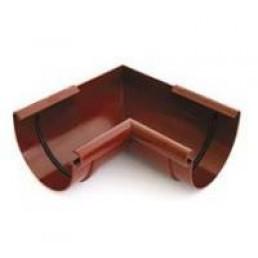 Угол внешний/ внутренний (любой под заказ) водосточной системы BRYZA 100 ;белый, коричневый;диаметр 100 мм