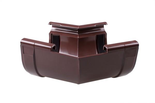 Угол внутренний 135° водосточной системы PROFIL 90/75;коричневый, белый;диаметр 90 мм