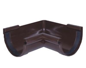 Угол внутренний 90° водосточной системы PROFIL 90/75;коричневый, белый;диаметр 90 мм