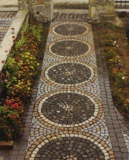 Укладка гранитной брусчатки, фасадных и напольных каменных плит, мозаик.