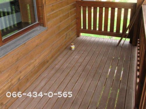 Укладка террасной доски деревянной(лиственни ца). Монтаж на балки открытым способом.