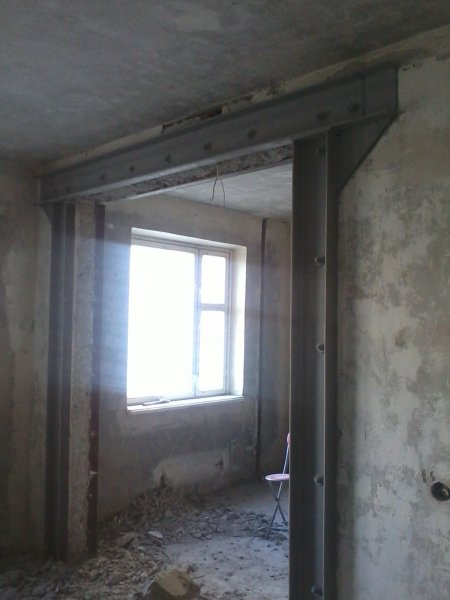 Фото  1 Укрепление дверного проема металлоконструкциями стандарт - в квартире 1872751