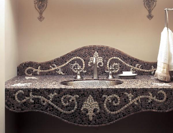 Умивальник з мармурової мозаїки
