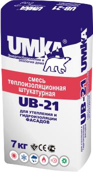 UMKA (Умка)UB-21– смесь теплоизоляционная штукатурная для утепления и гидроизоляции фасадов