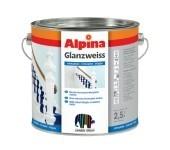 Универсальная белая эмаль Alpina GLANZWEISS. для финишных покрытий по дереву, металлу и твердому ПВХ.