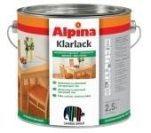 Универсальный шелковисто-матовый лак Alpina KLARLACK SEIDENMATT. для наружных и внутренних работ.