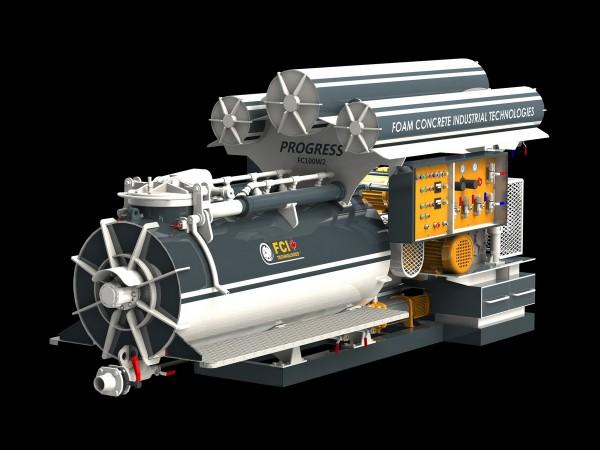 Оборудование для производства пенобетона. Мобильный строительный комплекс FC100W2