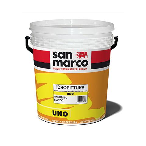 Uno (Италия) краска с шелковистым эффектом для внутренних и наружных работ, супермоющаяся. Разводится водой до 50%. 12м2/л