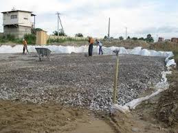 Уплотнение грунта: щебнем